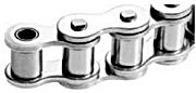 Chaine a rouleaux simple acier inoxydable