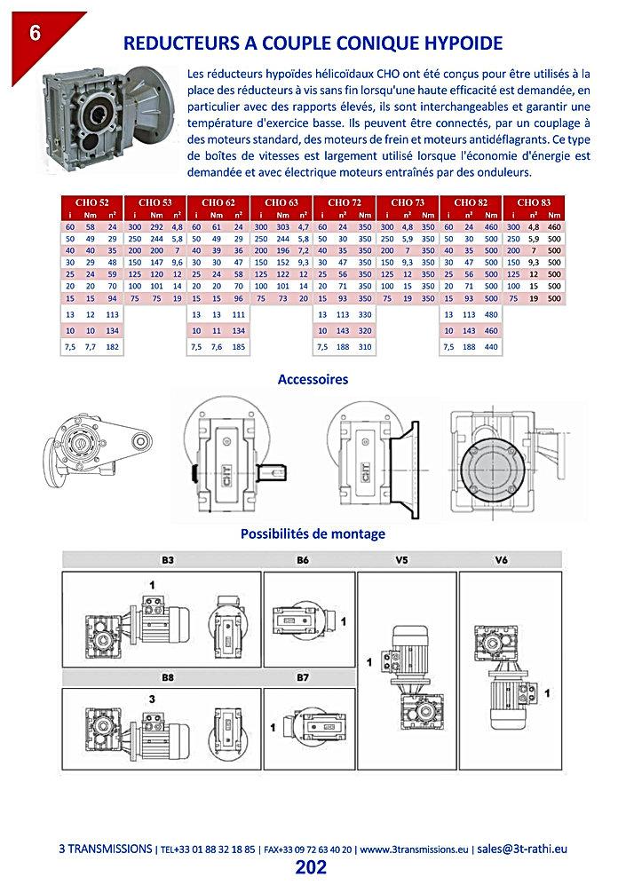 Réducteurs couple hypoide, Motoréducteurs orthogonaux | 3 Transmissions
