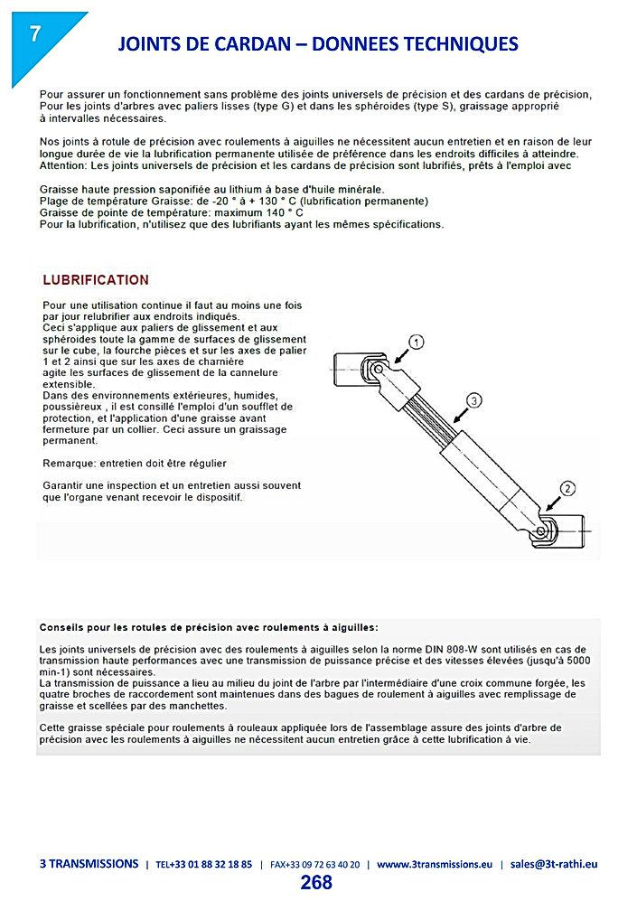 Maintenance et instruction montage des Joints de cardan | 3 Transmissions