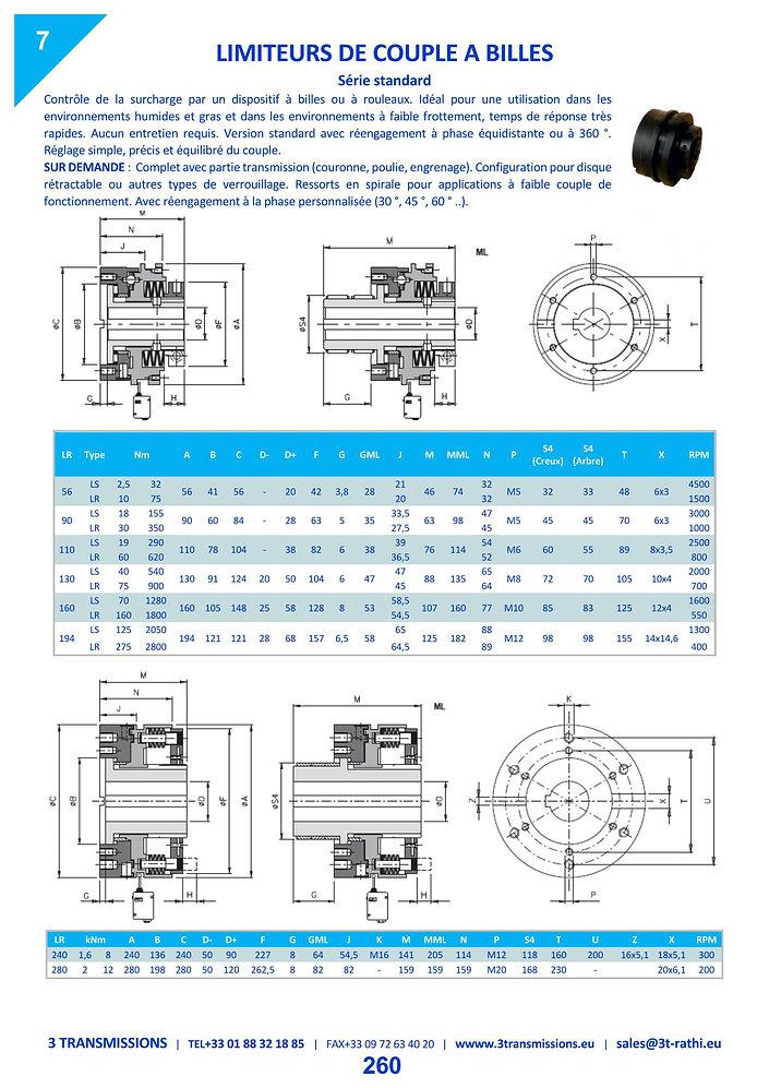 Limiteurs de couple à friction SECURIFLEX à accouplement à flector | 3 Transmissions