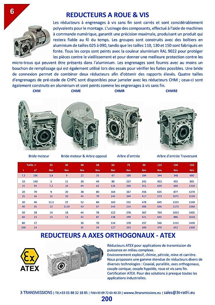 Réducteurs roue et vis, Motoréducteurs roues et vis | 3 Transmissions