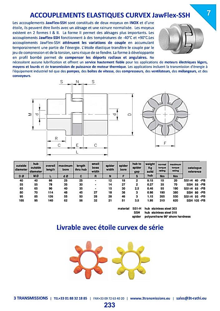 Accouplements élastiques à flector acier inoxydable | 3 Transmissions