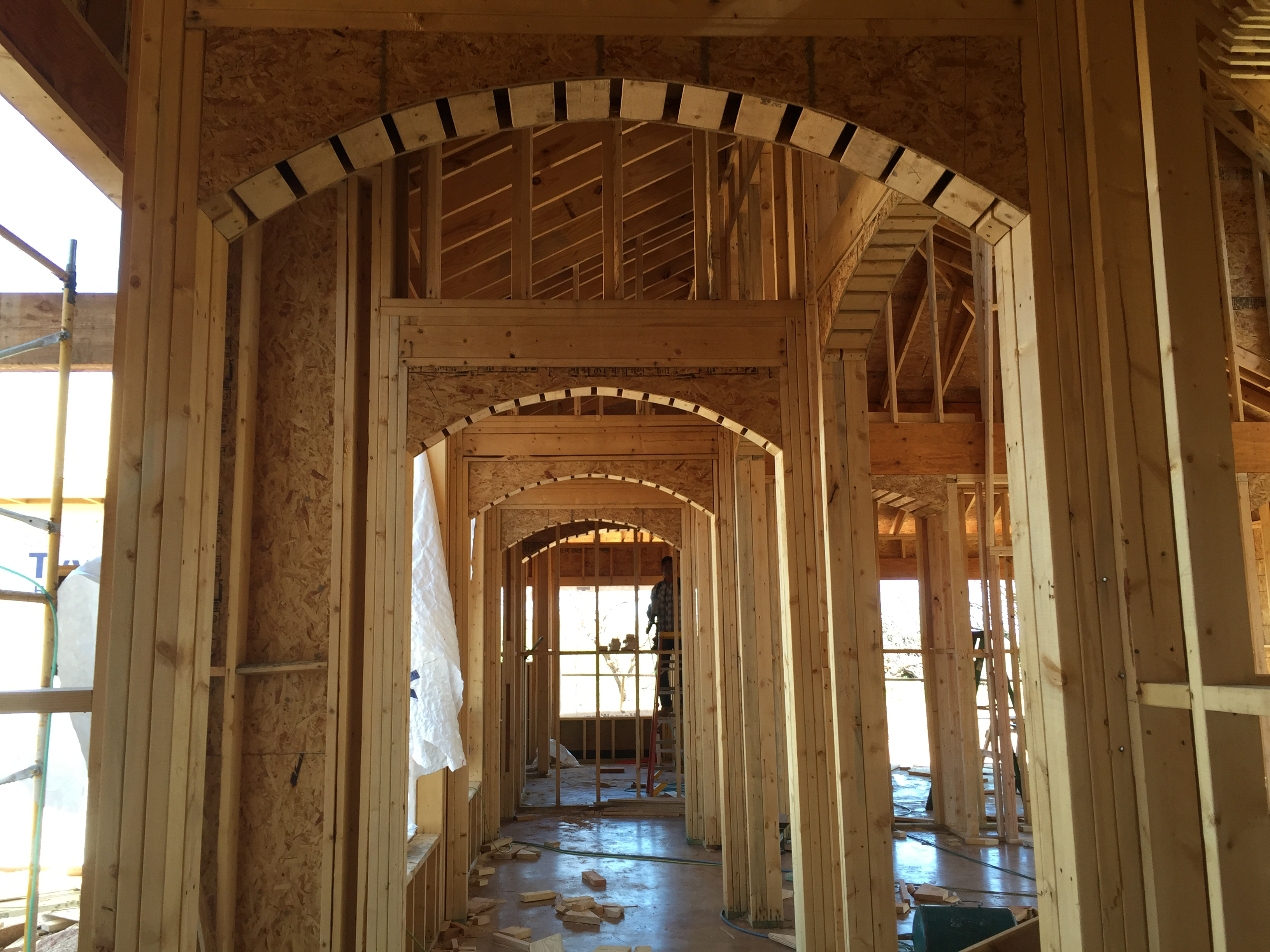 build | home | framing | arch