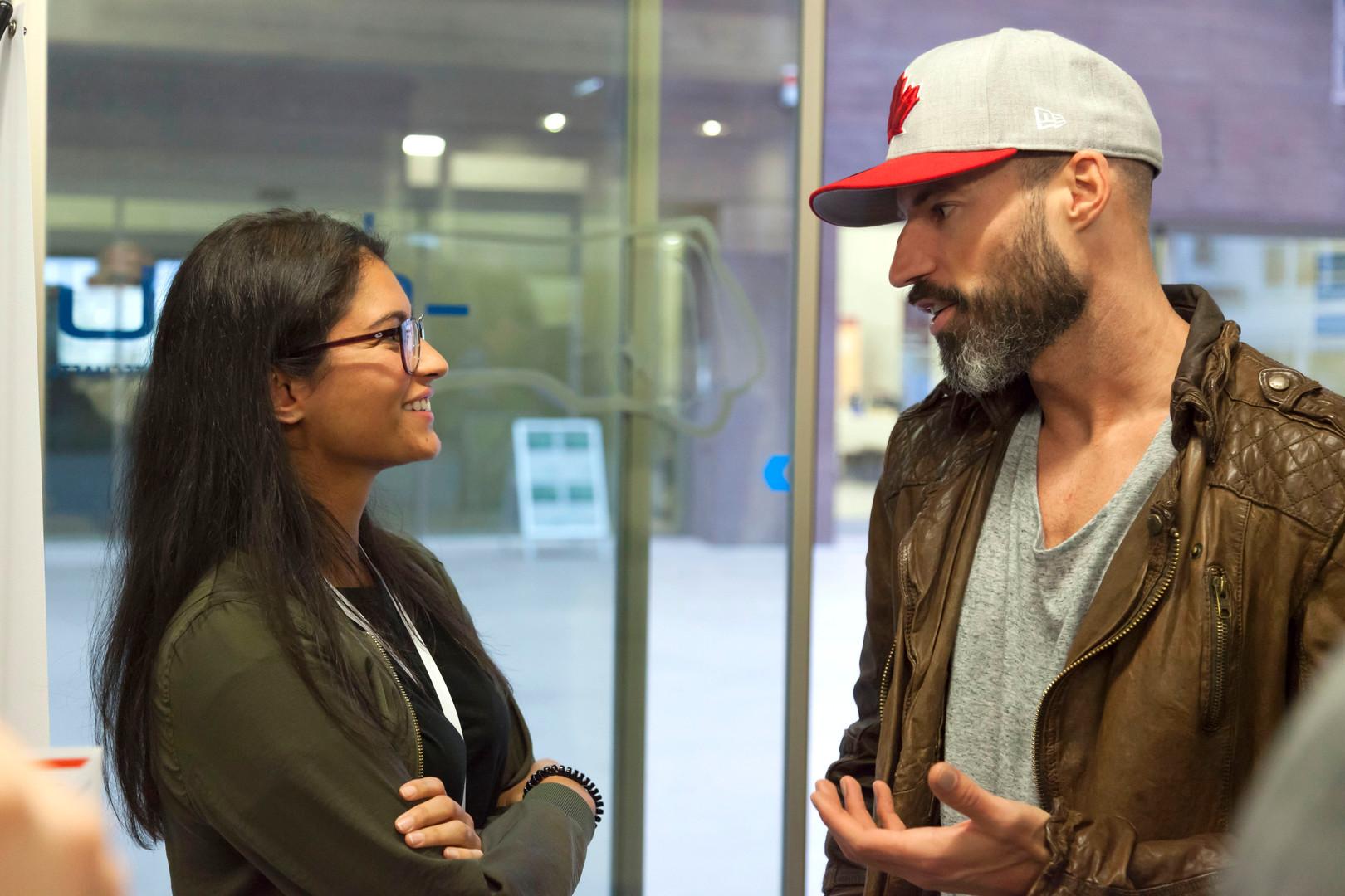 TEDx DHBW Mannheim Matthew Mockridge mit Julia Ramsmaier-Gracias