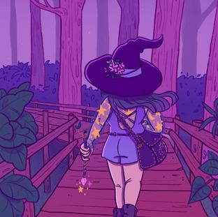 Bruxinha na floresta