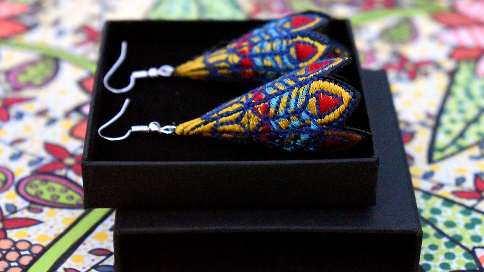 Peacock Cone Earring