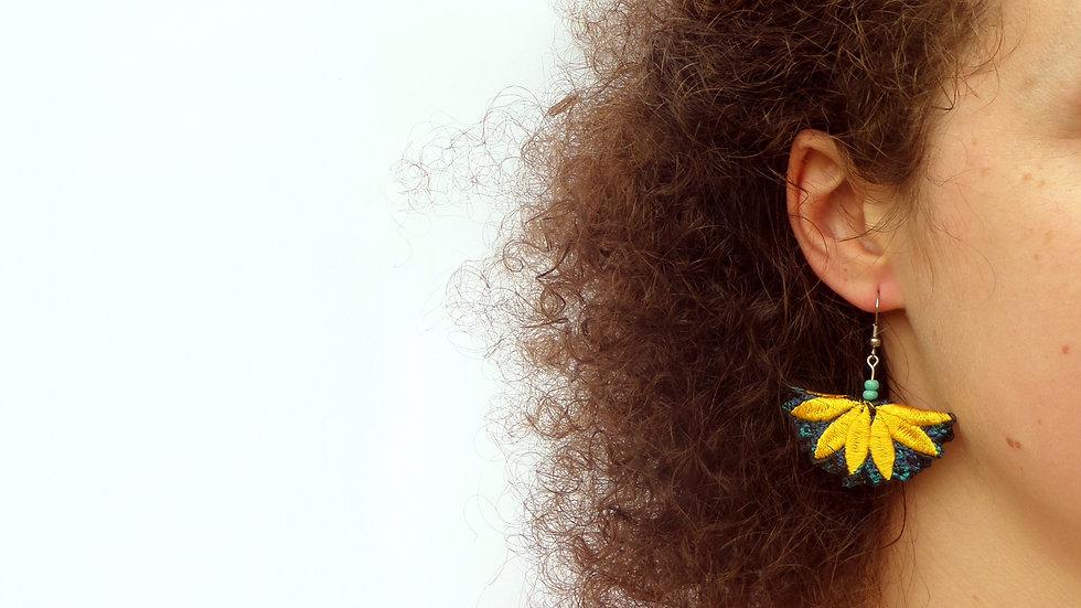 Folded Flower Earring