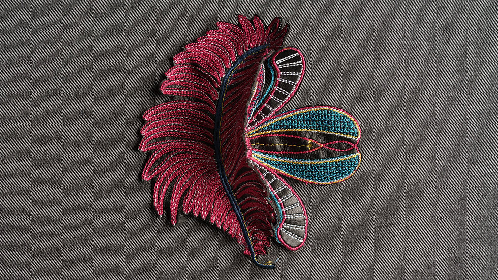 3-D Layered Feather