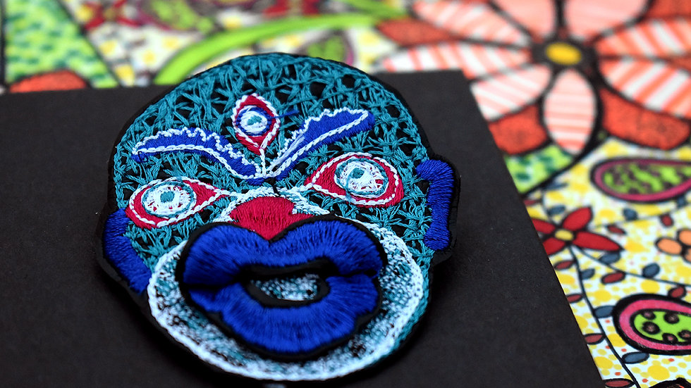 Pout Mask Brooch