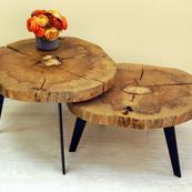 שולחן עגול כפול