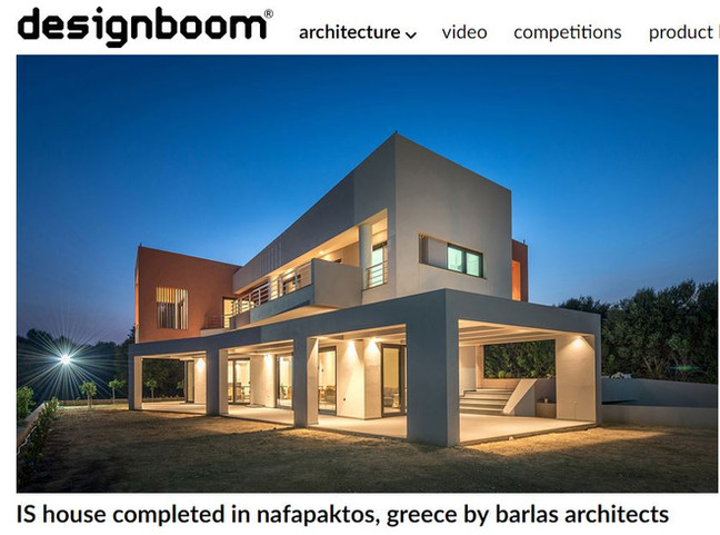 IS House  among the selected projects on designboom #architectureingreece