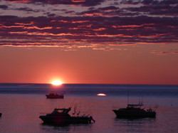 Magical sunrise on Lake Superior