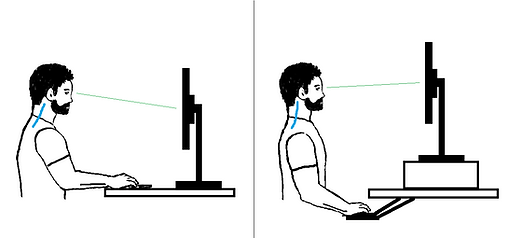 Bad Versus Good Desk Posture