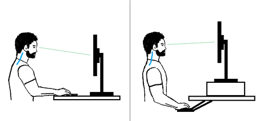 Bad Versus Good Desk Posture