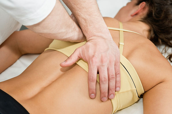 Chiropractic adjustment being performed
