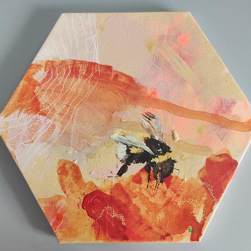 Hexagon Bee Painting