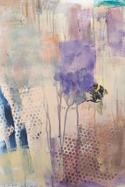 'Viper's Bugloss' painting