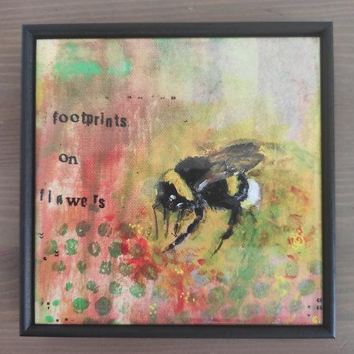 'Footprints' Framed Tile Print