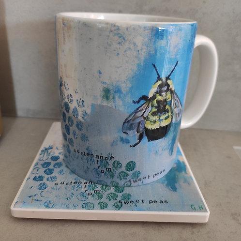 Ceramic Mug and Round Coaster