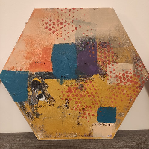 'Small, Yet So Significant' Hexagon Painting