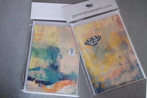 A6 Butterfly Notelets