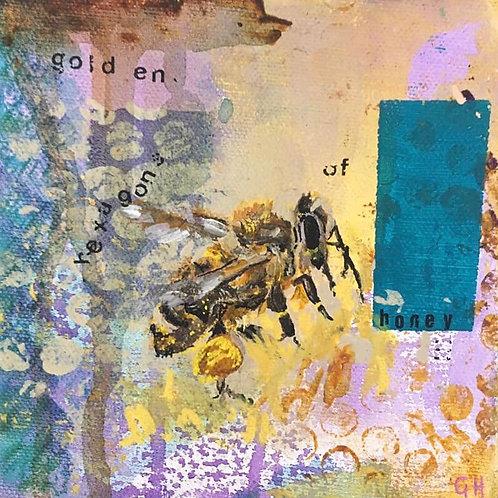 'Golden Hexagons of Honey' painting