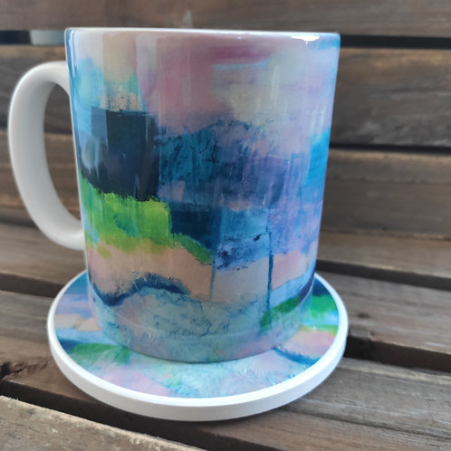 Abscapes 'Revisiting' Mug & Coaster