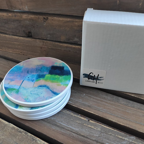 Abscapes 'Revisiting' Ceramic Coasters