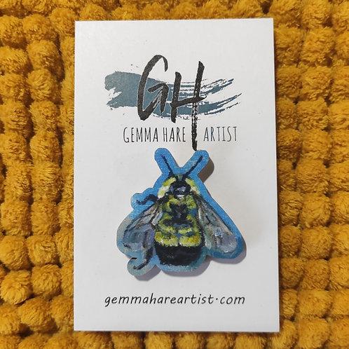 Blue Bumblebee Pin