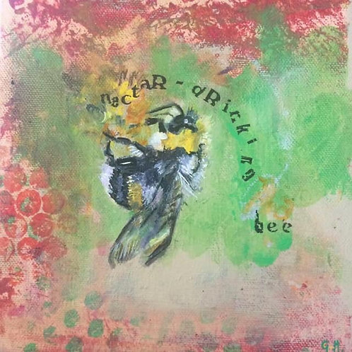 'Nectar- Drinking Bee' Painting