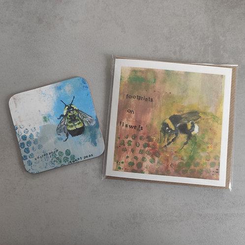 Bee Card and Coaster