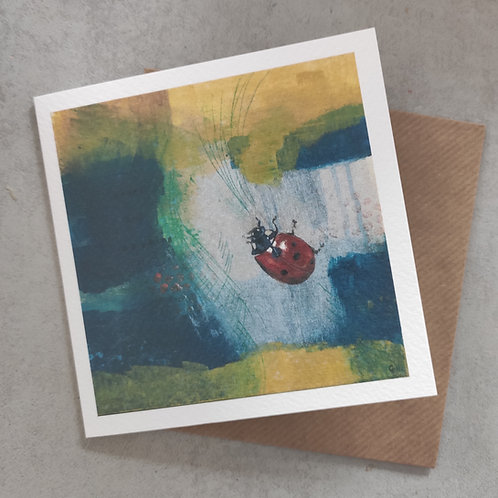 Ladybird Textured Card