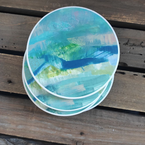 'Abscapes' One Year On Ceramic Coasters