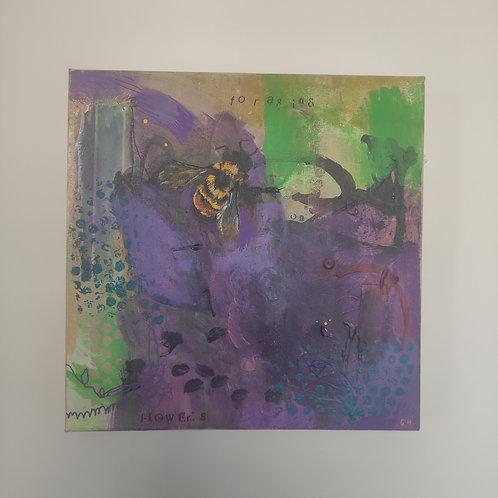 'Foraging on Flowers' Original Painting