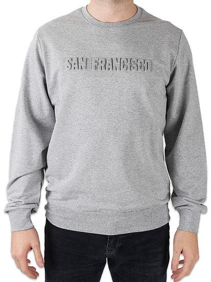 Embossed Mid-Weight Crewneck Sweatshirt