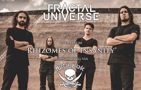 """Fractal Universe signs worldwide deal with Metal Blade Records; new album, """"Rhizomes of Insanit"""