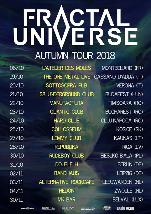 Fractal Universe announces Autumn Tour 2018