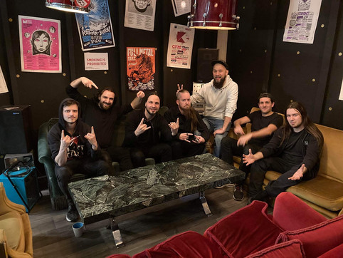 Working on our New Show with Chistian from Gojira
