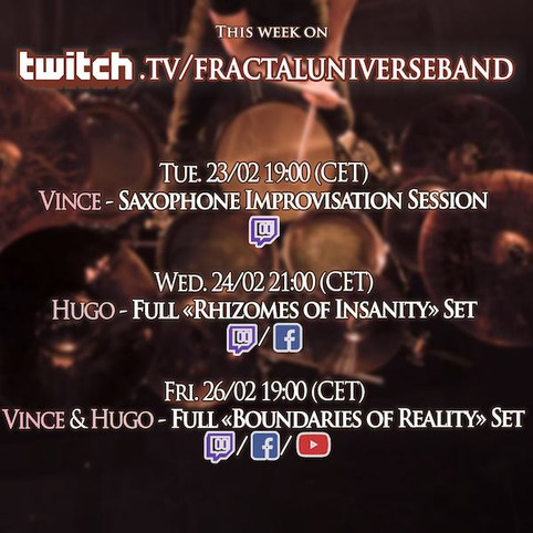 This week on Twitch: Boundaries of Reality's 6th anniversary!