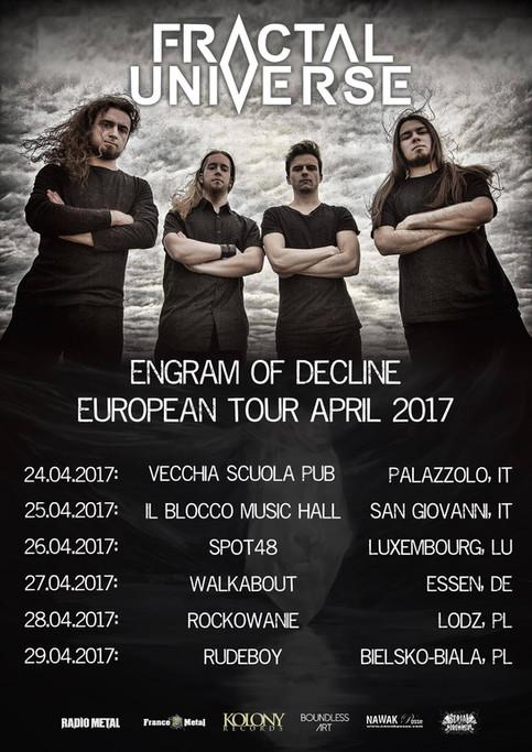 APRIL 2017: EUROPEAN TOUR ANNOUNCEMENT