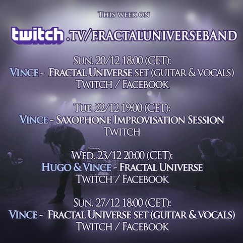 This Week on Fractal Universe's Twitch!