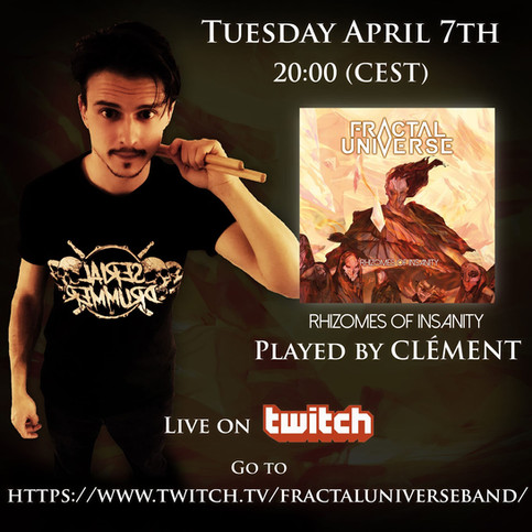 "Clément's Twitch Debut: Performing ""Rhizomes of Insanity"" in its entirety!"