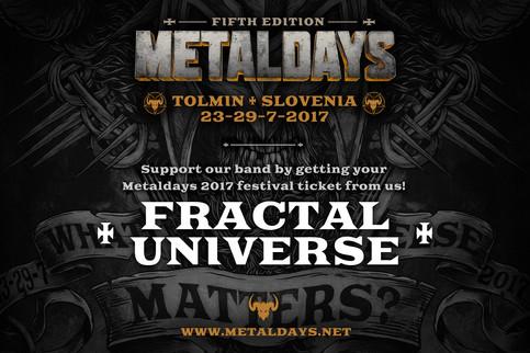 FRACTAL UNIVERSE CONFIRMED FOR METALDAYS 2017