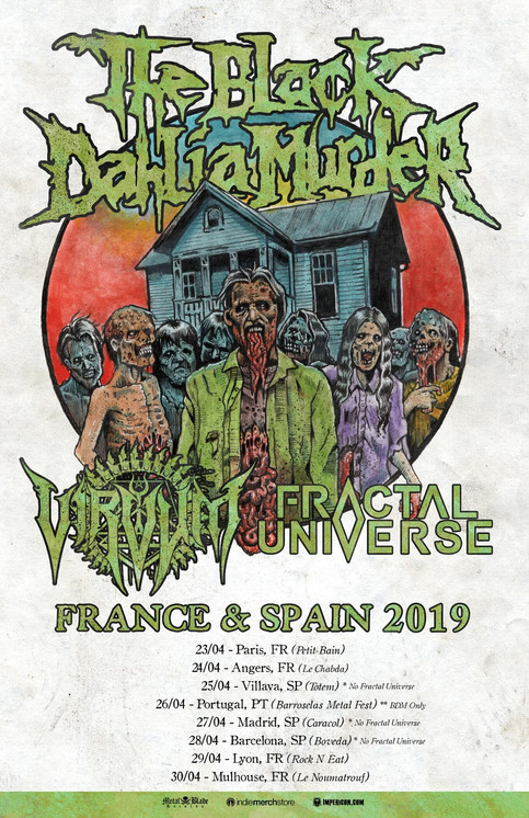 French Tour with The Black Dahlia Murder