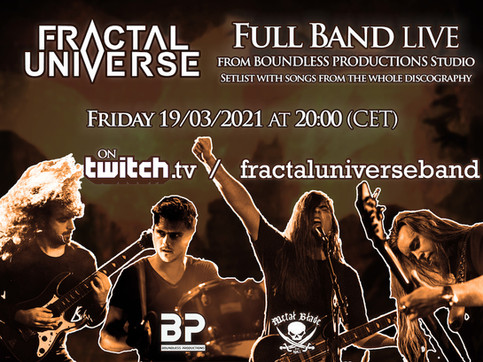 This week on Twitch: the first full band livestream!