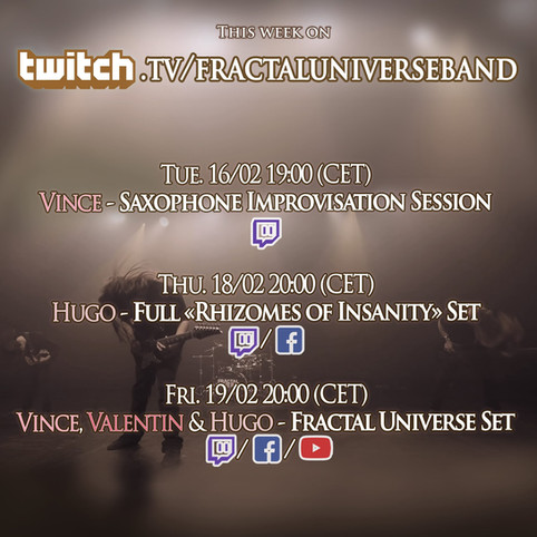 This week on Twitch: Vince, Valentin & Hugo's first stream together!