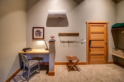 Moose room built in desk