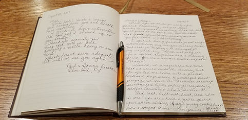 B&B Journal with link to A Stone's Throw B&B reviews.