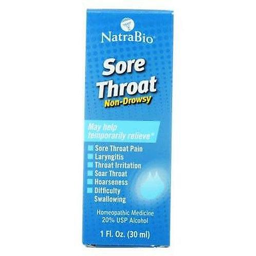 NatraBio Sore Throat Non-Drowsy  30 ml