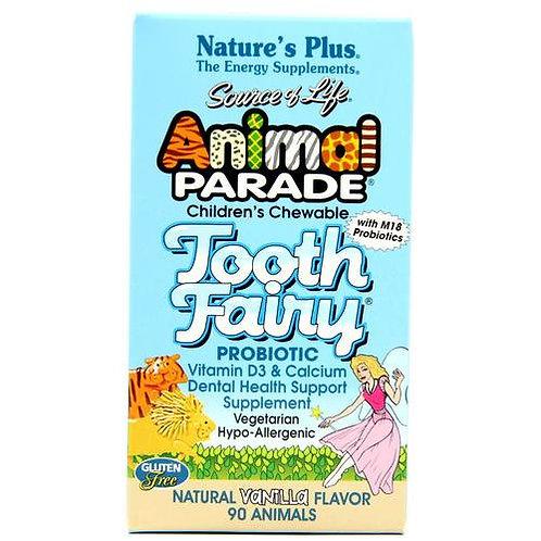 NaturesPlus Animal Parade Tooth Fairy Probiotic Chewable Vanilla  90 tabs